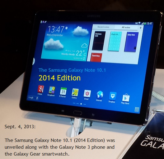 large tablet samsung note 2014 version