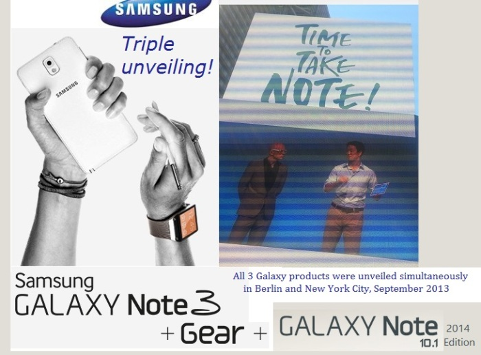 Samsung Galaxy Note 3 10.1 event smartwatch
